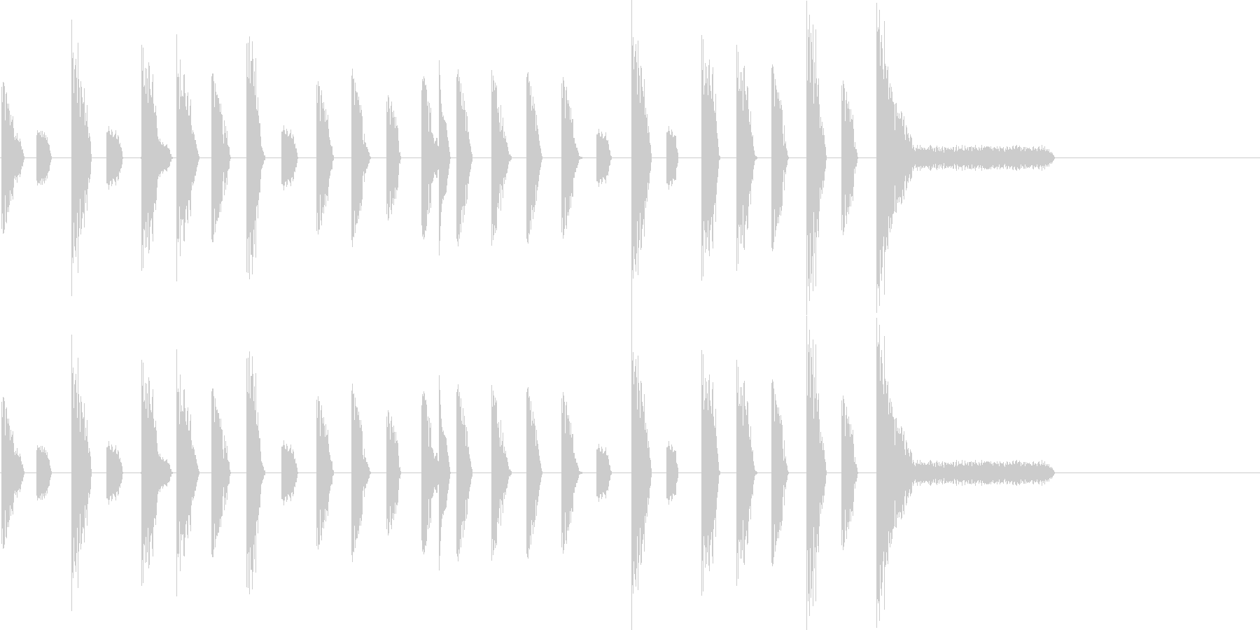 レトロゲーム風・ステージクリア#1の未再生の波形