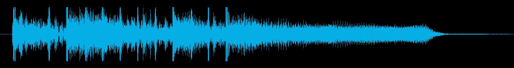 エレキギターのロックなジングルですの再生済みの波形
