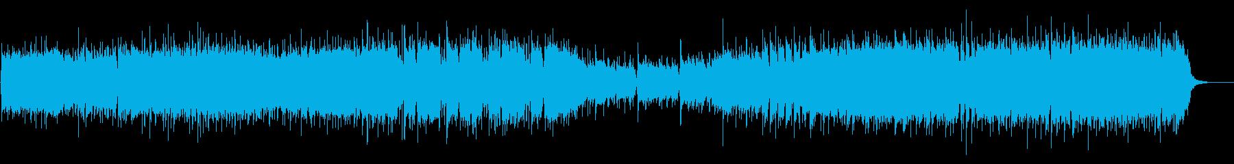 ゲームのオープニング風フュージョン曲の再生済みの波形