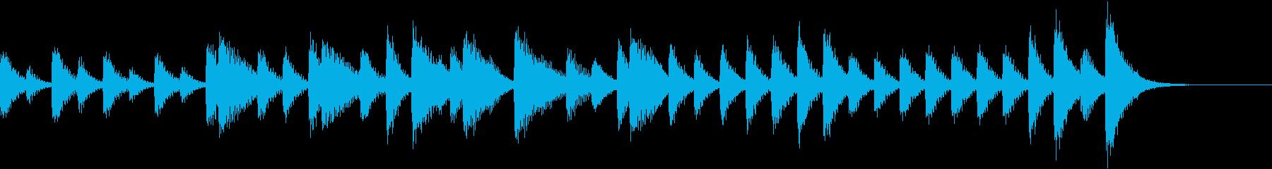 ニワトリの声に聴こえる!?ピアノジングルの再生済みの波形