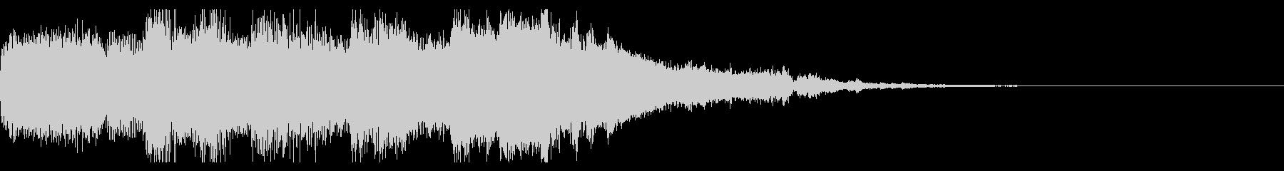 シンセサイザーとピアノの癒し系ジングルの未再生の波形