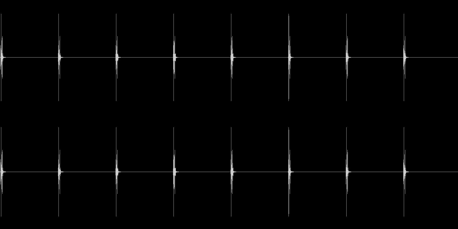 チッ チッ/リアルな時計の音 ループの未再生の波形