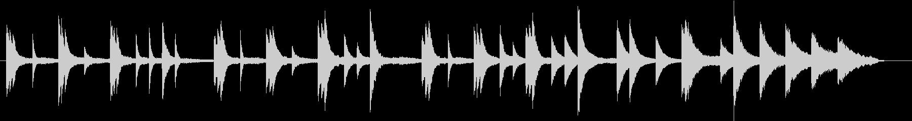 秋のイメージのピアノ03の未再生の波形