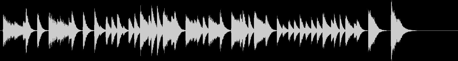 童謡・雪モチーフの冬のピアノジングルAの未再生の波形
