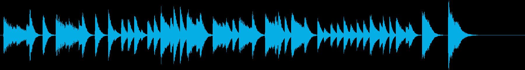 童謡・雪モチーフの冬のピアノジングルAの再生済みの波形