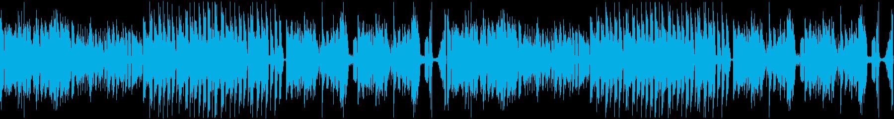 オープニングに最適な激しいBGMの再生済みの波形