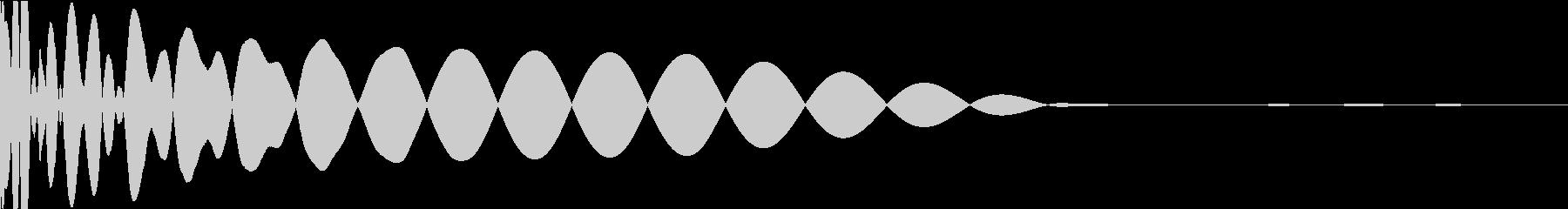 DTM Kick 7 オリジナル音源の未再生の波形