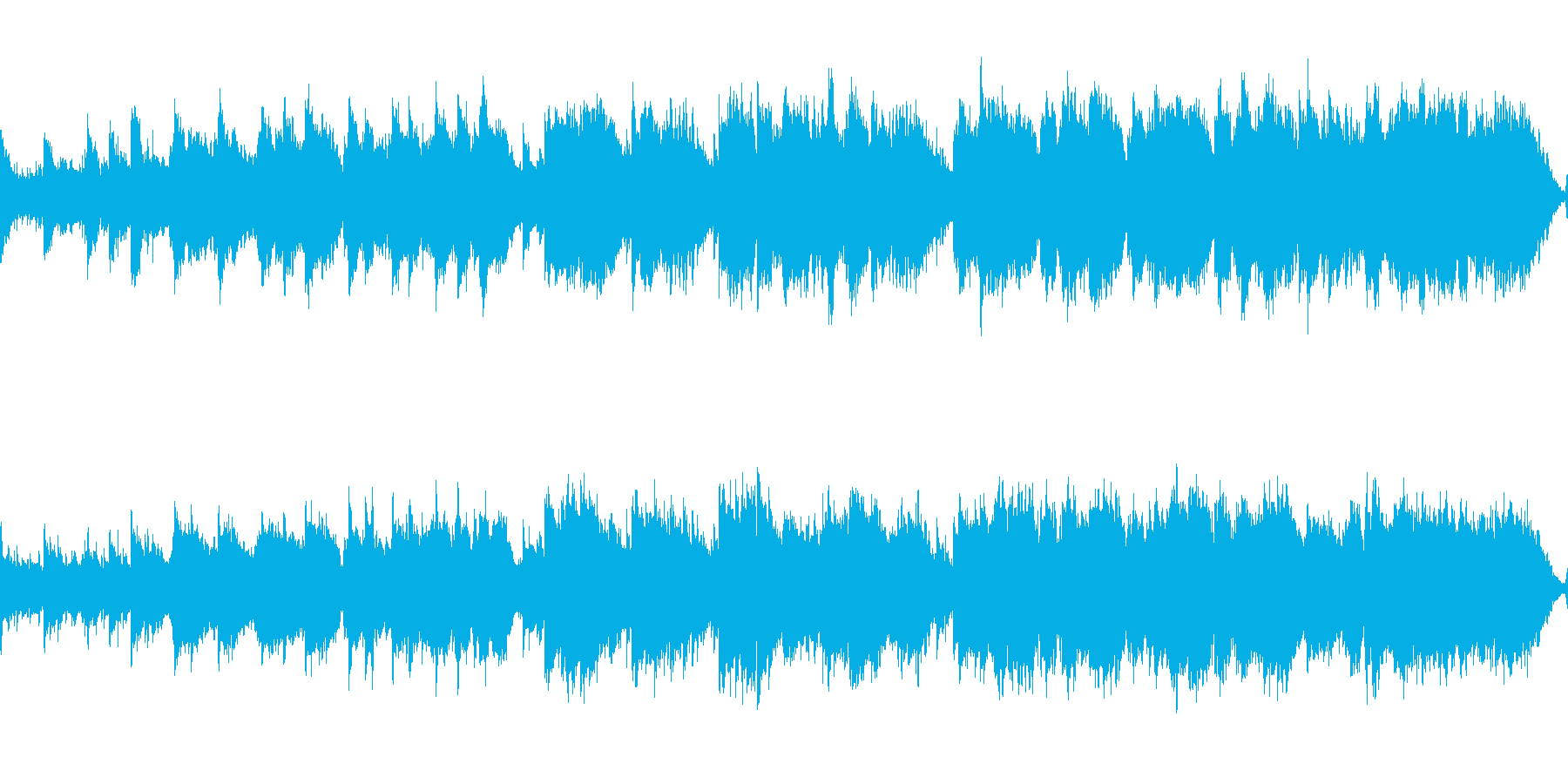 優しいケルト曲(ループ)の再生済みの波形