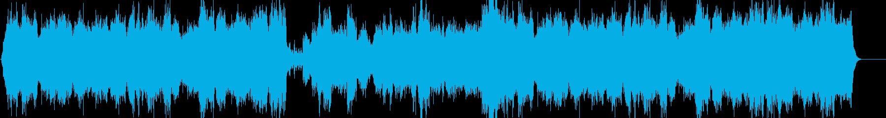感動的なストリングスの再生済みの波形