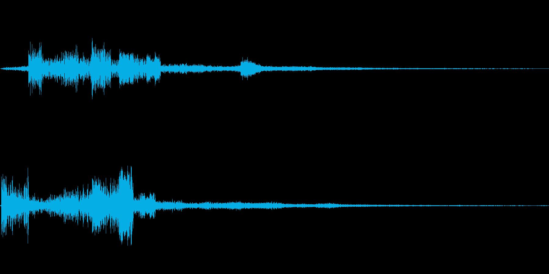 多彩に響くノイズ効果音の再生済みの波形