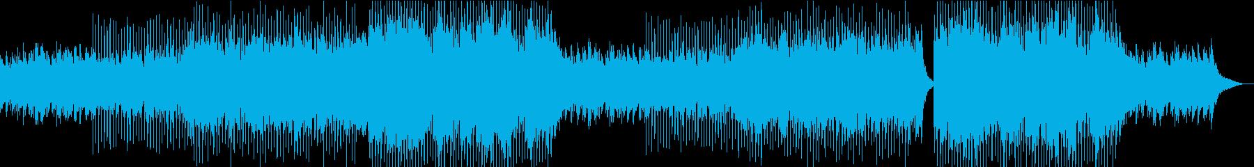 透明感のあるコーラスとピアノの日常BGMの再生済みの波形