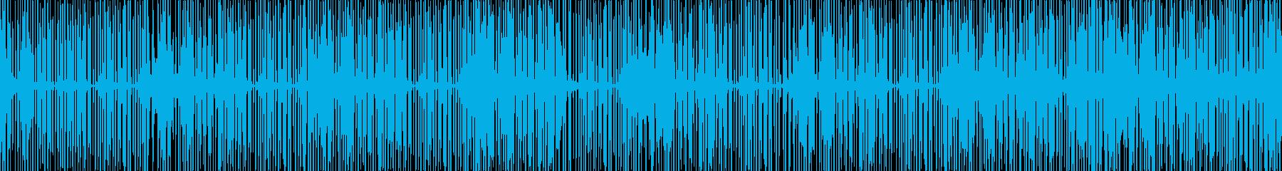 逆再生不気味幻想的よれよれテクノの再生済みの波形
