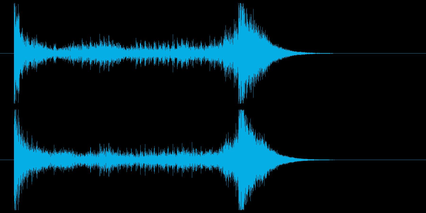 ティンパニーロール_シンバルあり(4秒)の再生済みの波形