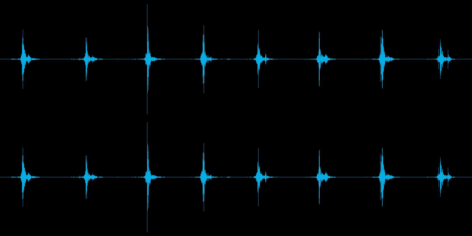 鳥 翼フラップ06の再生済みの波形