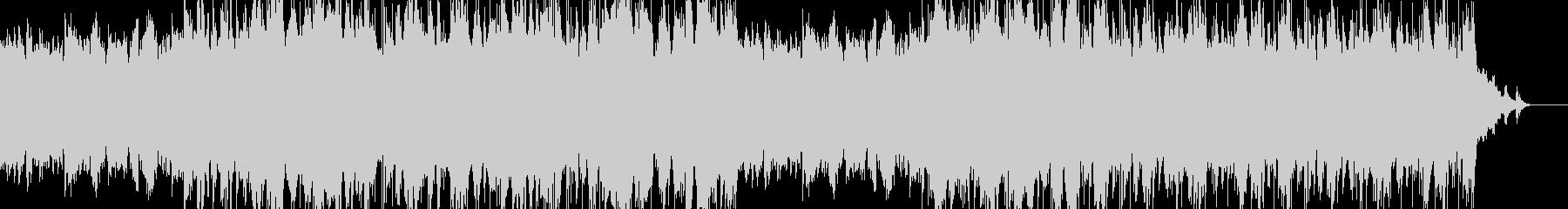 アンビエントビートとピアノの楽曲の未再生の波形