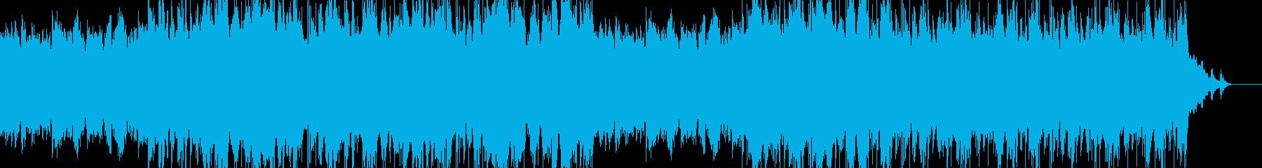 アンビエントビートとピアノの楽曲の再生済みの波形