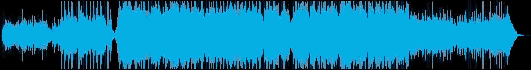 しっとりとした曲調のピアノインストの再生済みの波形
