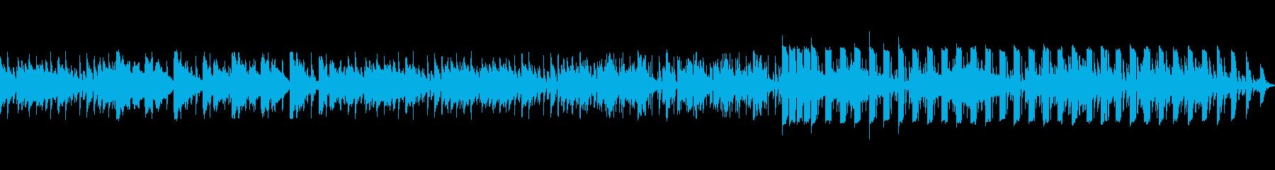 今風のオシャレで騒がしくないBGMの再生済みの波形