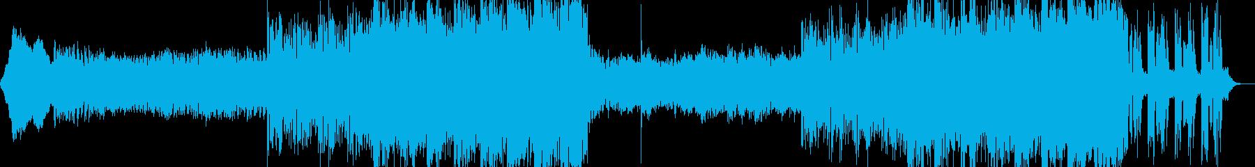 緊迫感漂うエレクトニカ風BGMの再生済みの波形