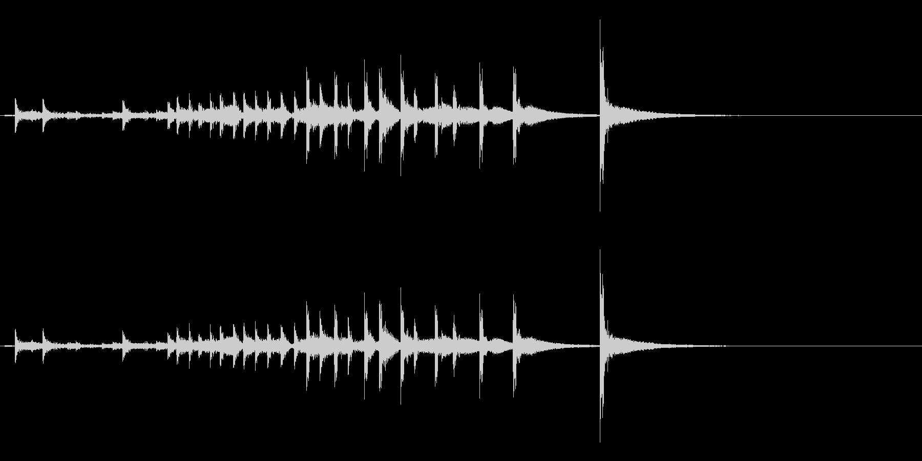 うちわ太皷の連打のフレーズ音+Fxの未再生の波形