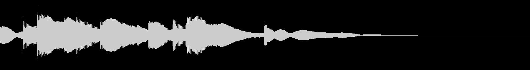 ジングル用オルゴール楽曲11-2の未再生の波形
