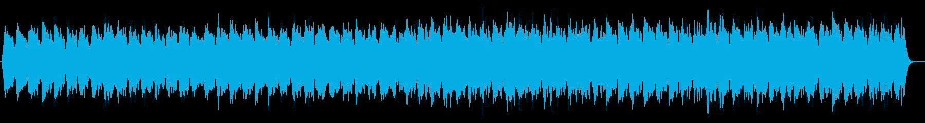 ゆっくりと眠れるヒーリングシンセサウンドの再生済みの波形