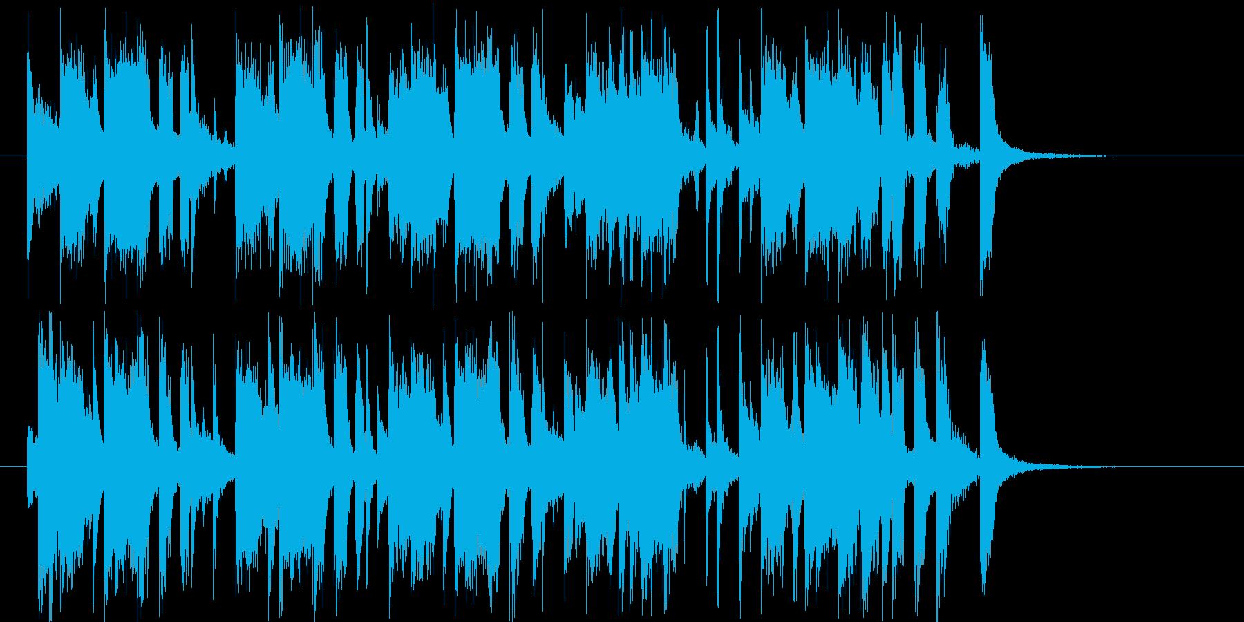 南国の風が連想できるポップな曲の再生済みの波形