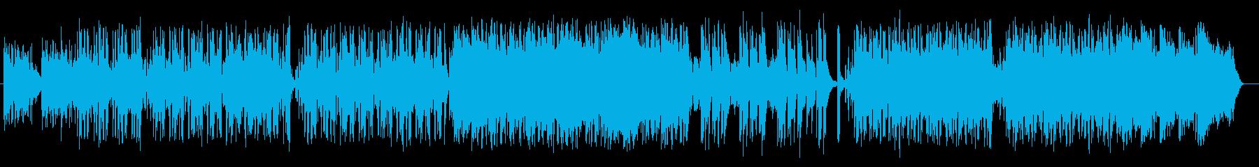 ゆったりと爽やかなシンセサイザーサウンドの再生済みの波形