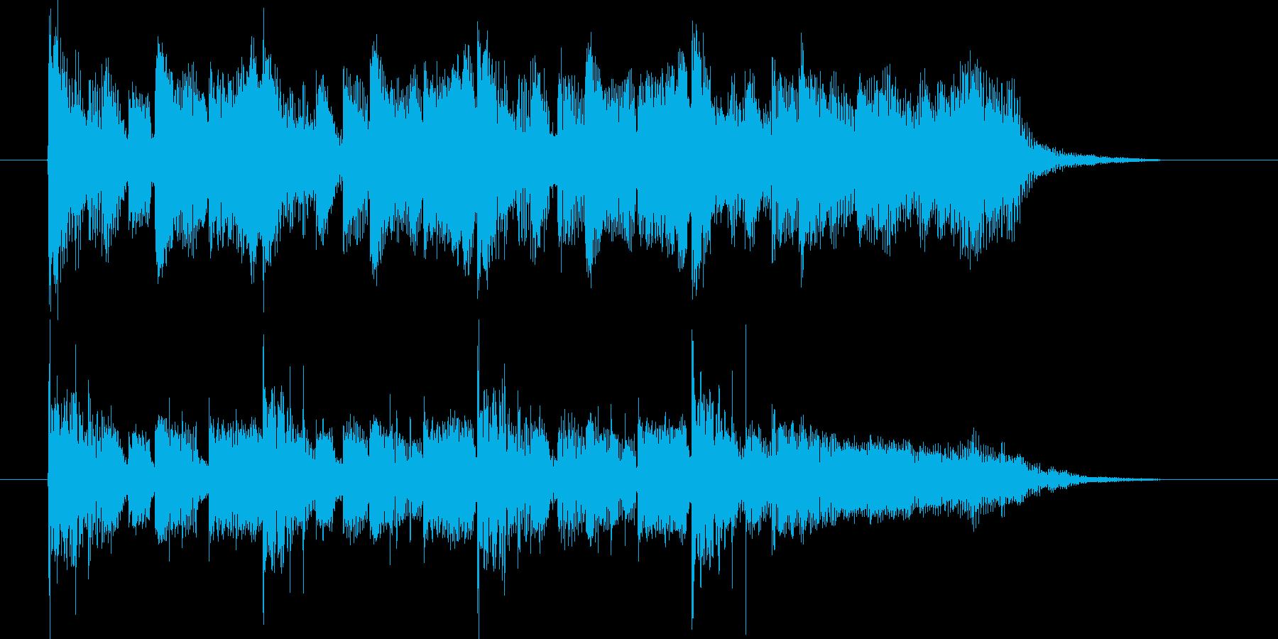 メルヘンチックなポップスの再生済みの波形