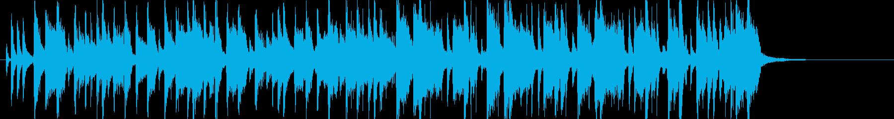 ファンキーでワイルドな印象のジングルの再生済みの波形