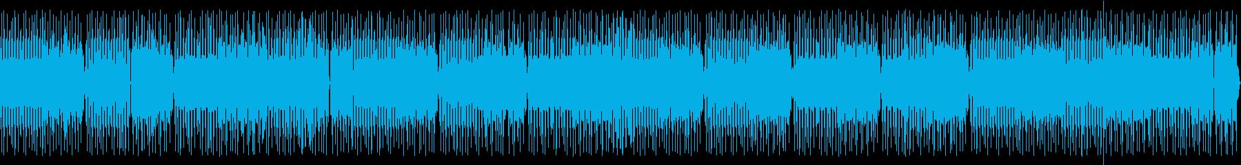 喋り動画用_ローテンポなトランス系BGMの再生済みの波形