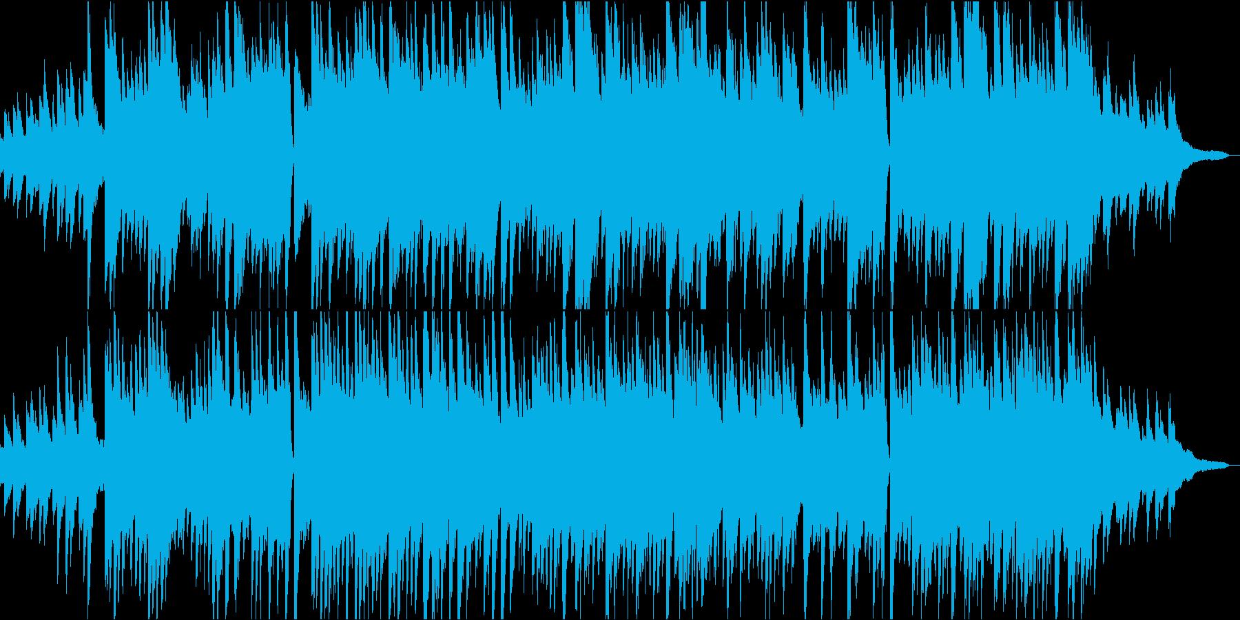 優しいピアノソロBGMの再生済みの波形