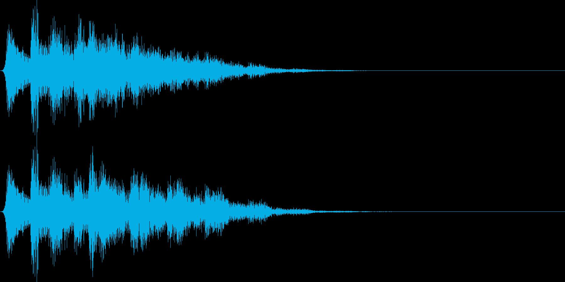 ボタン押下や決定音_キュピピンッ!の再生済みの波形