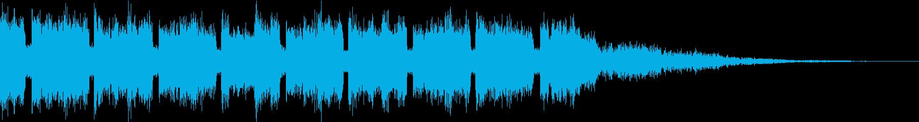 クラシック♪四季『春』のEDMジングルの再生済みの波形