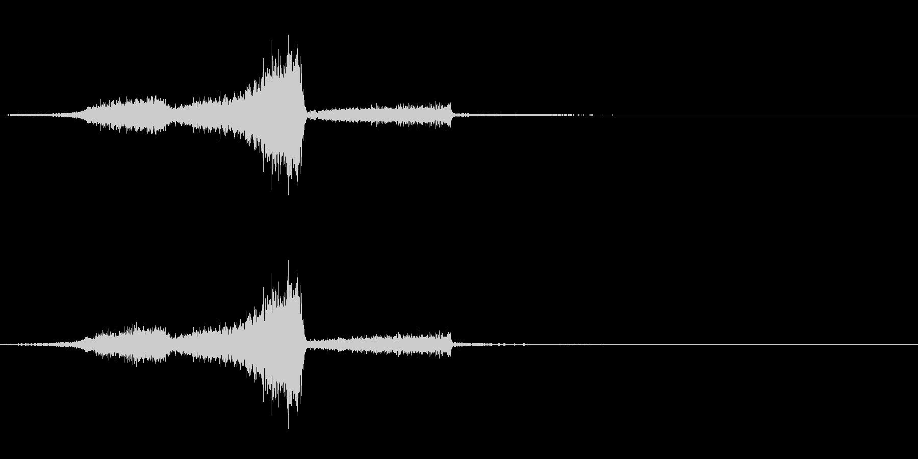タイトル/ロゴ/テロップ ⑦ 風の未再生の波形