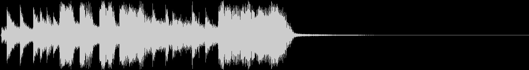 キレのいいトランペットのアイキャッチの未再生の波形