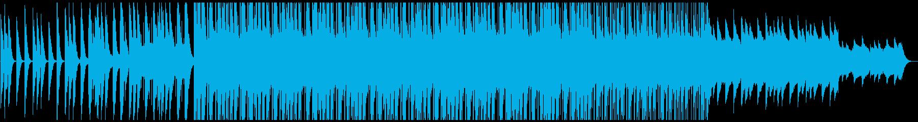幻想的でのれる電子音楽の再生済みの波形