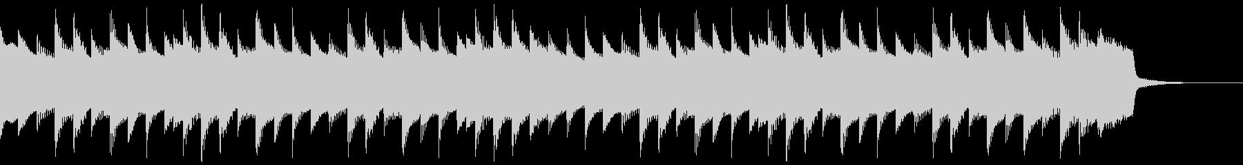 鉄琴を使ったほのぼのジングルの未再生の波形