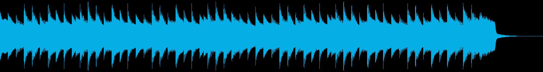 鉄琴を使ったほのぼのジングルの再生済みの波形