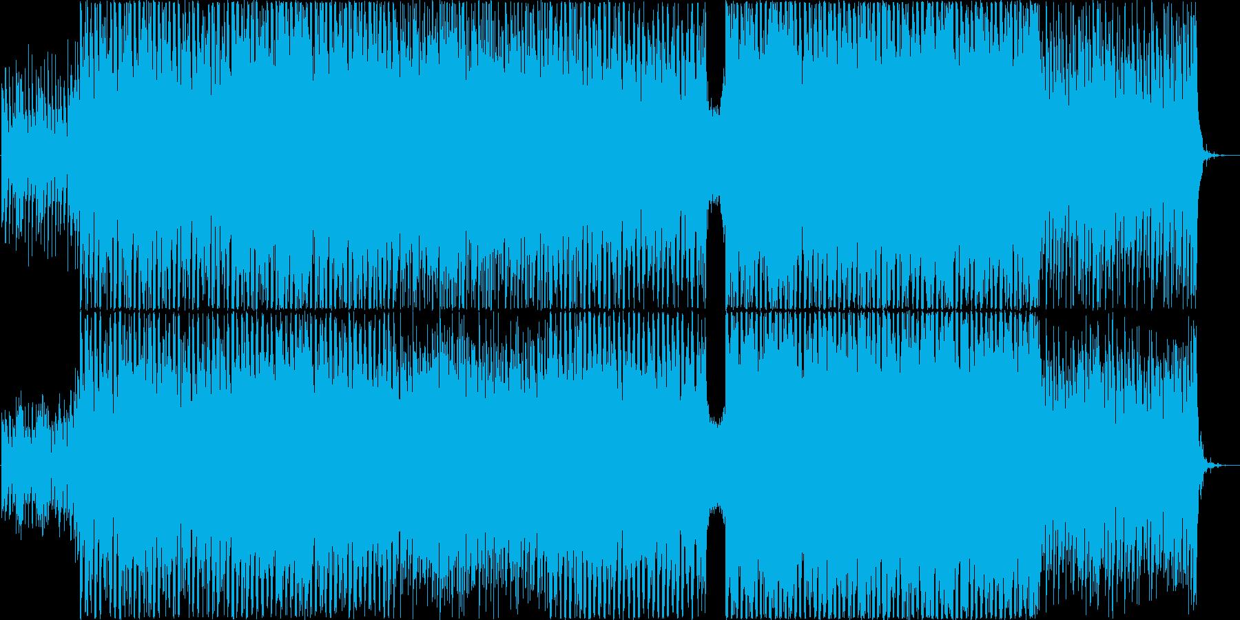 透明感があるギターエレクトロな曲の再生済みの波形