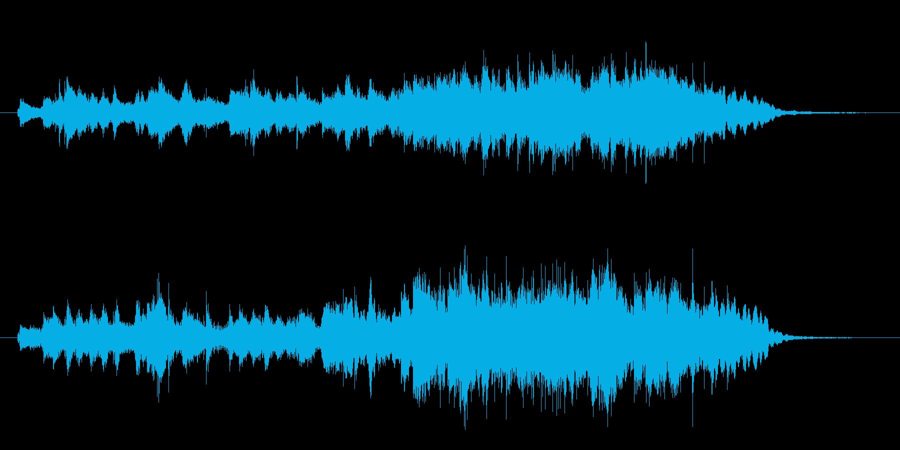 CMに 和風 箏2面の優雅で華やかな音楽の再生済みの波形