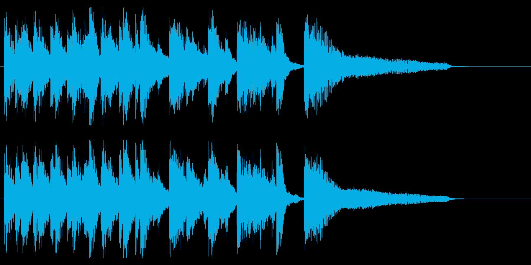 楽しい、明るい、わくわく、ジャズロゴ!の再生済みの波形