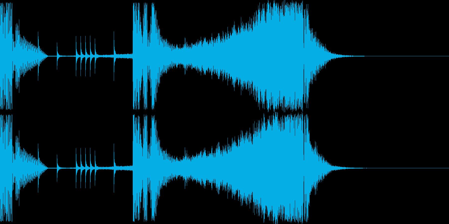 2~3秒の動きがある映像向けロゴです!の再生済みの波形