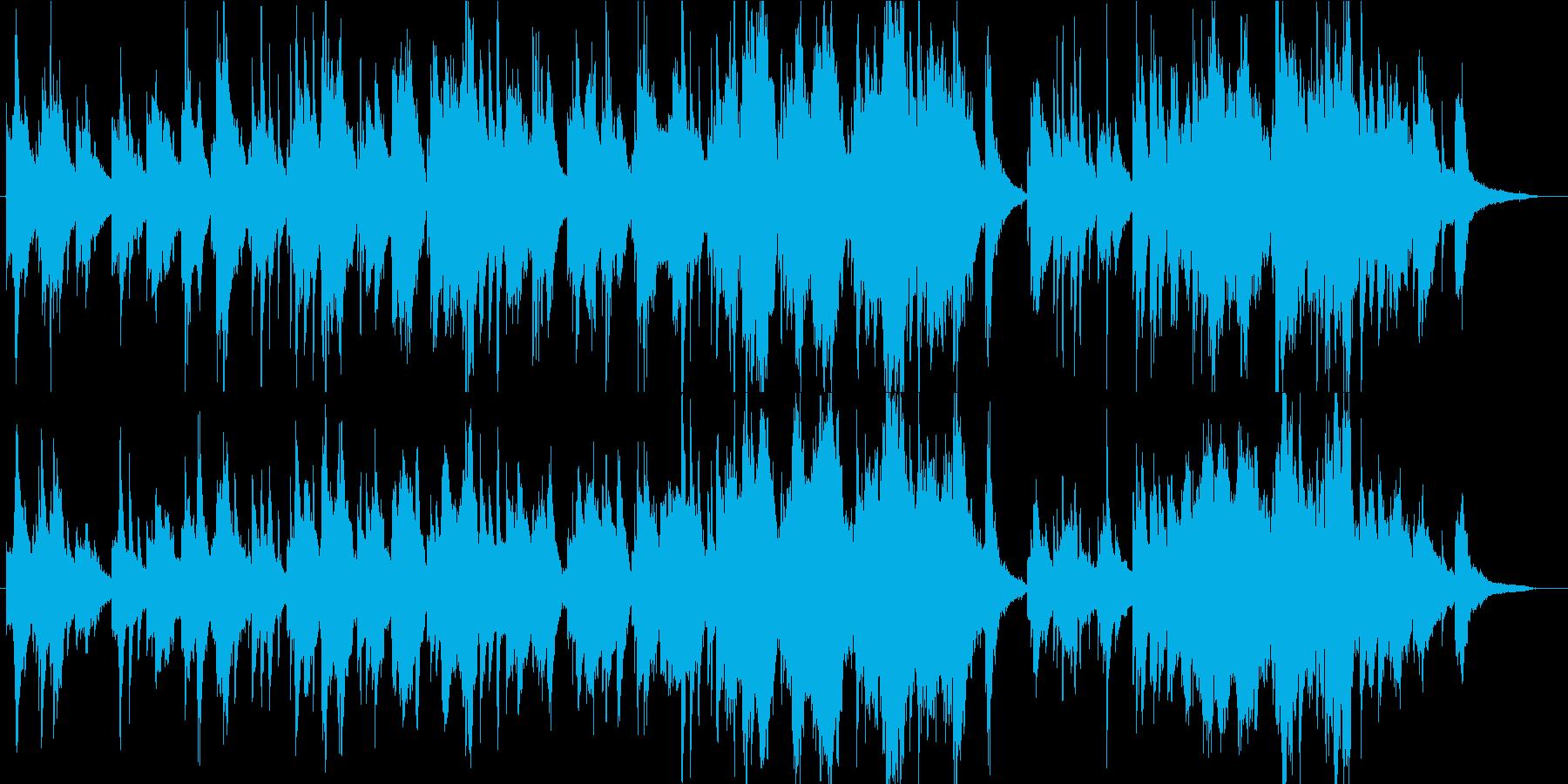 神秘的・幻想的な森の癒し系・民族音楽の再生済みの波形