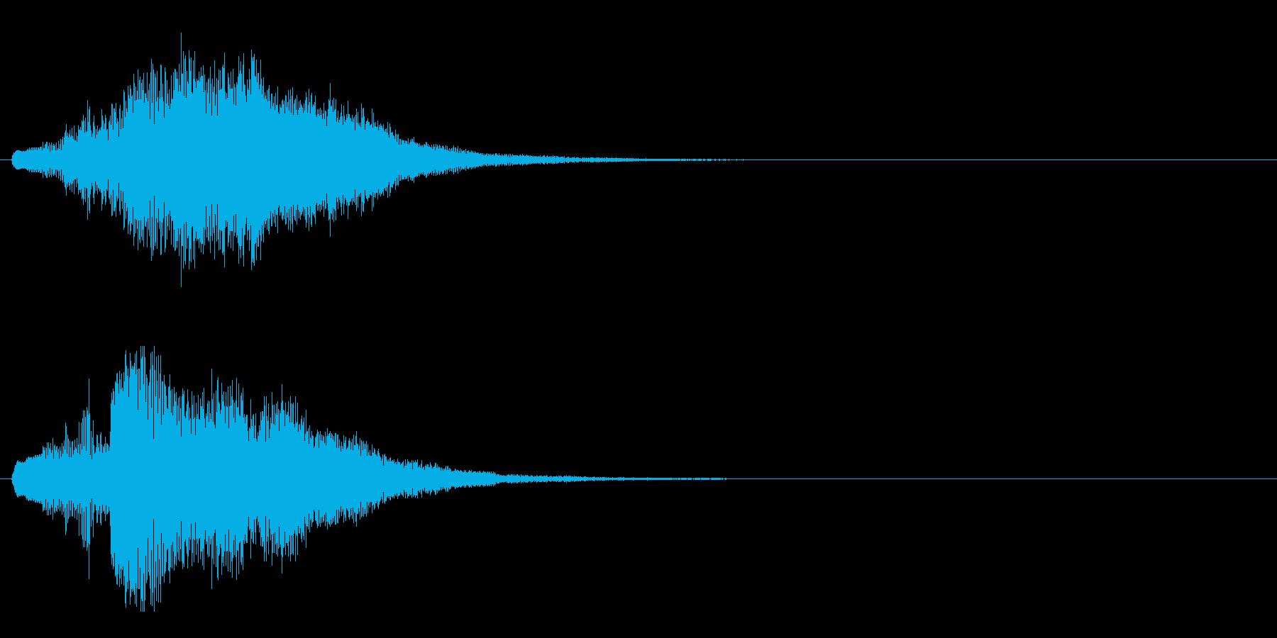 ハープ・上昇_8-3の再生済みの波形