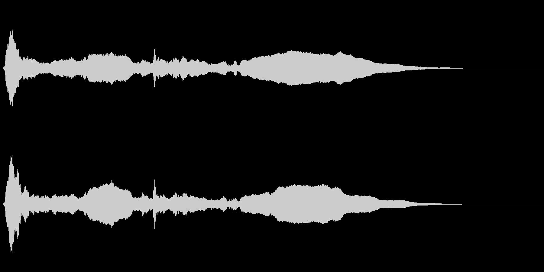 サムライ参上!尺八のフレーズ音+FXの未再生の波形