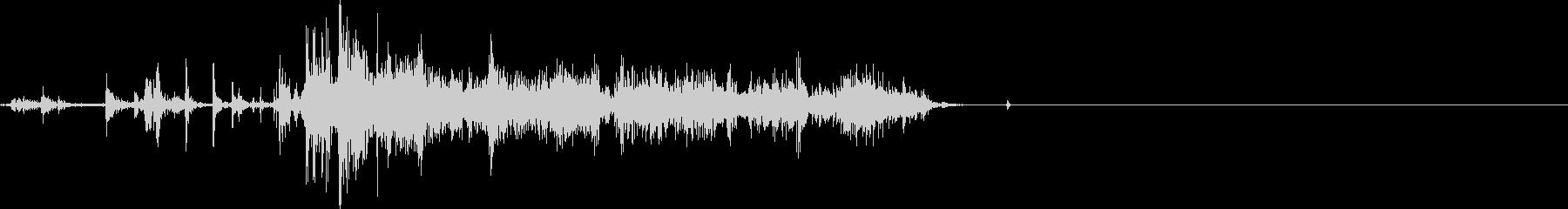 ペーパーリップショートハードリップの未再生の波形
