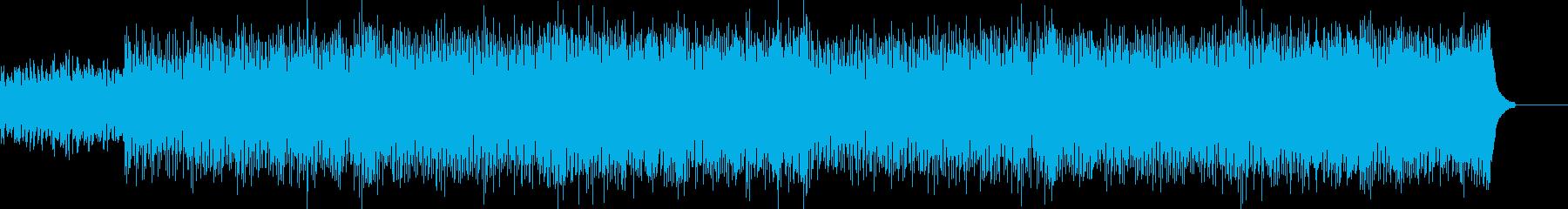 宇宙を感じるハイテクなメロディーの再生済みの波形