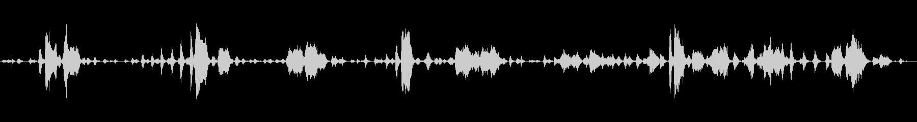 鶏の鳴き声、スコーク、フラッター2の未再生の波形