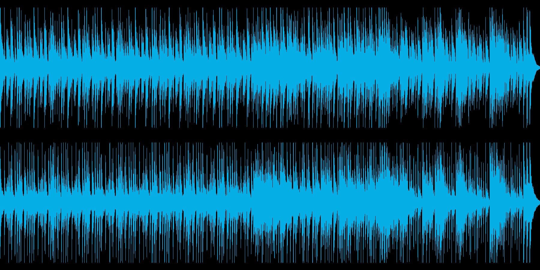 複雑にパーカッションが鳴るアフリカンな曲の再生済みの波形